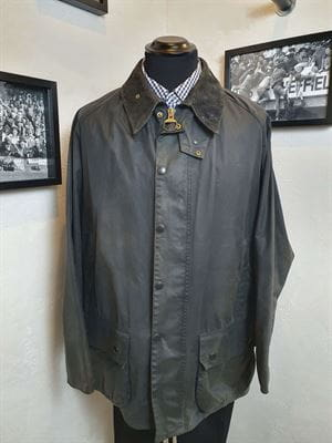 BARBOUR CLASSIC BEAUFORT 100-4 GIACCA UOMO VINTAGE FRONTALE