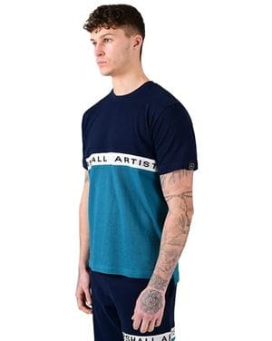 MARSHALL ARTIST SS TEE MAGLIA UOMO NAVY TEAL LATERALE