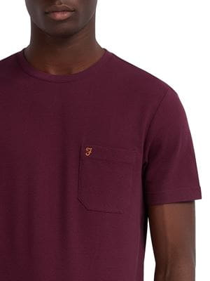 FARAH SUNSET SLIM FIT T-SHIRT RUSPBERRY DETAIL