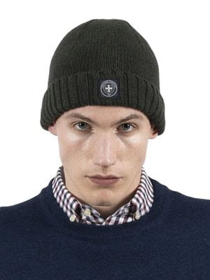 THREE STROKE PRODUCTIONS AW20 SEAWOLF BEANIE FOREST FRONT