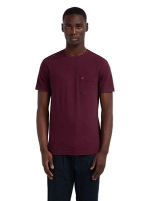 FARAH SUNSET SLIM FIT T-SHIRT RUSPBERRY FRONT