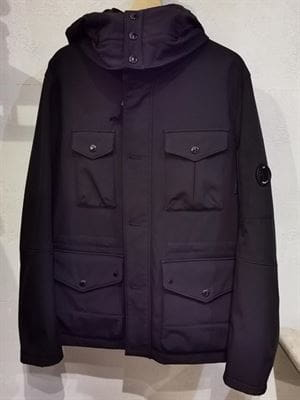 CP COMPANY SHELL JACKET VINTAGE BLACK FRONT