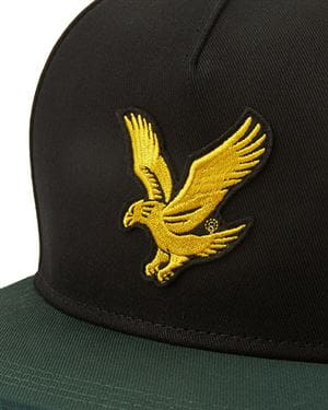 LYLE AND SCOTT COLOUR LOCK EAGLE CAP NERO VERDE GIADA LOGO