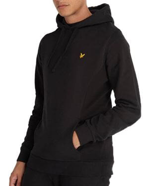 LYLE AND SCOTT PANELLED HOODIE FELPA NERO