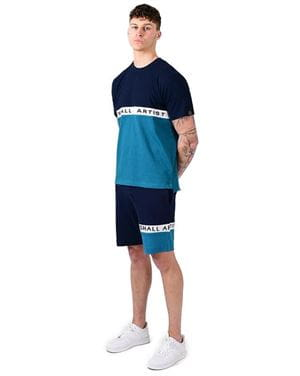 MARSHALL ARTIST SS TEE MAGLIA UOMO NAVY TEAL FRONTALE INTERA