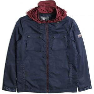 PEACEFUL HOOLIGAN DOBBS JACKET GIACCA BLU NAVY FRONTALE