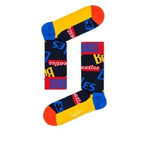 HAPPY SOCKS THE BEATLES COLLECTOR BOX SET CALZE SCRITTE