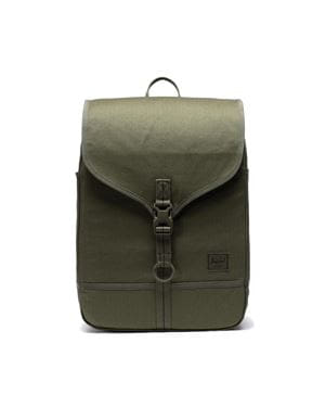 HERSCHEL PURCELL BACKPACK SURPLUS ZAINO VERDE EDERA FRONTALE