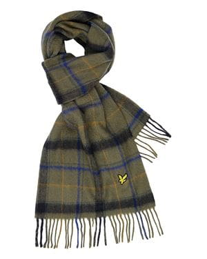 LYLE & SCOTT TARTAN LAMBSWOOD SCIARPA TREK GREEN