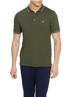 LYLE AND SCOTT TIPPED POLO UOMO VERDE FRONTALE