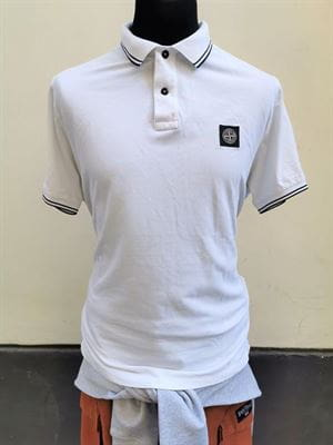 STONE ISLAND POLO SLIM FIT BIANCO RIGHINO XXL