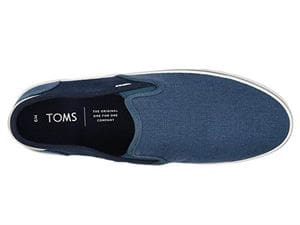 TOMS BAJA BLUE MAN SHOES FROM ABOVE