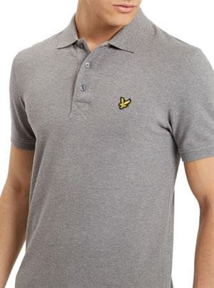 LYLE AND SCOTT PLAIN POLO SHIRT GRIGIO MEDIO FRONTALE