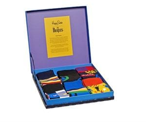 HAPPY SOCKS THE BEATLES COLLECTOR BOX SET CALZE SCATOLA APERTA