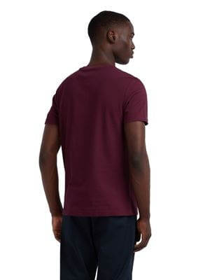 FARAH SUNSET SLIM FIT T-SHIRT RUSPBERRY BACK