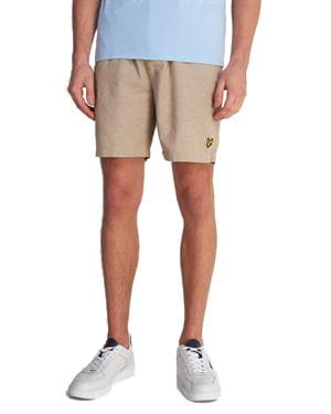 LYLE AND SCOTT COTTON LINEN WALKSHORT STONE FRONT