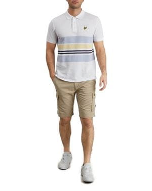 LYLE AND SCOTT BERMUDA CARGO UOMO STONE FRONTALE INTERO
