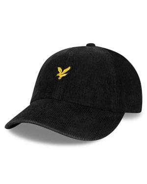 LYLE & SCOTT CORD BASEBALL CAP BLACK FRONT