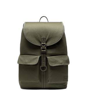 HERSCHEL DOWSON BACKPACK LARGE SURPLUS ZAINO VERDE EDERA FRONTALE