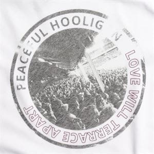 PEACEFUL HOOLIGAN LOVE BIANCO T-SHIRT UOMO STAMPA