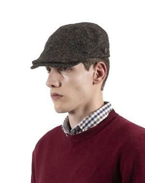 THREE STROKE PRODUCTIONS AW20 TOMMY 2 CAPPELLO MARRONE LATERALE