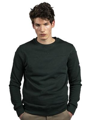 THREE STROKE PRODUCTIONS AW20 VENATOR SWEATSHIRT GREEN FRONT