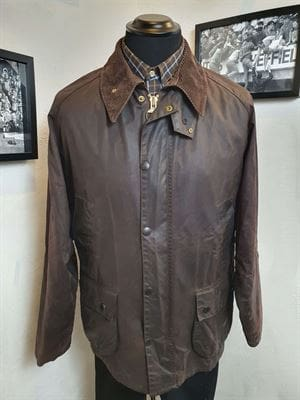 BARBOUR BEDALE 100-9 GIACCA UOMO VINTAGE FRONTALE