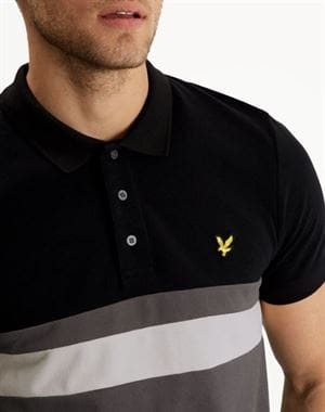 LYLE AND SCOTT YOKE STRIPE POLO UOMO FRONTALE