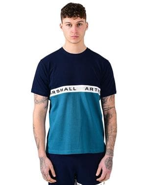 MARSHALL ARTIST SS TEE MAGLIA UOMO NAVY TEAL FRONTALE