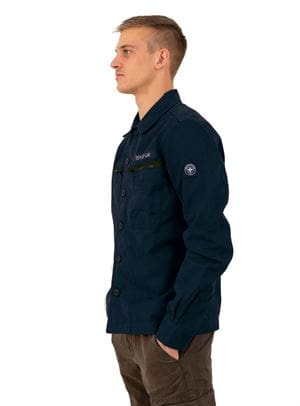 THREE STROKE EIRIK JACKET GIACCA UOMO BLU NAVY LATERALE