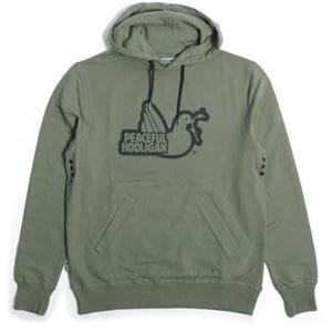 PEACEFUL HOOLIGAN OUTLINE HOODIE FELPA UOMO FRONTALE