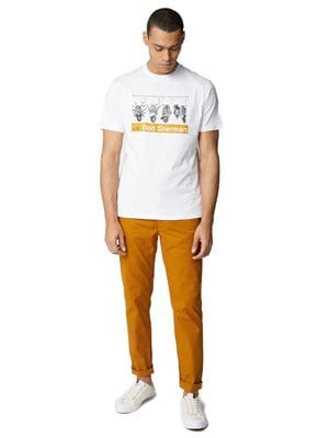 BEN SHERMAN SCOOTER TEE BIANCO FRONTALE INTERA