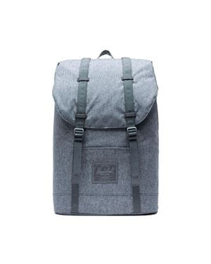 HERSCHEL RETREAT BACKPACK ZAINO RAVEN CROSSHATCH FRONTALE