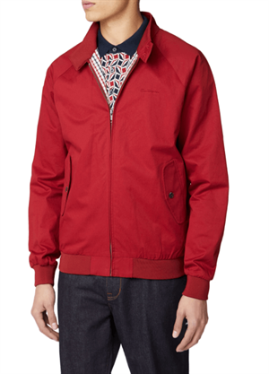 BEN SHERMAN SIGNATURE HARRINGTON JACKET ROSSO FRONTALE