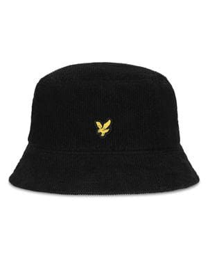 LYLE & SCOTT CORD BUCKET HAT BLACK