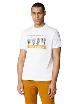 BEN SHERMAN SCOOTER TEE T-SHIRT WHITE FRONT