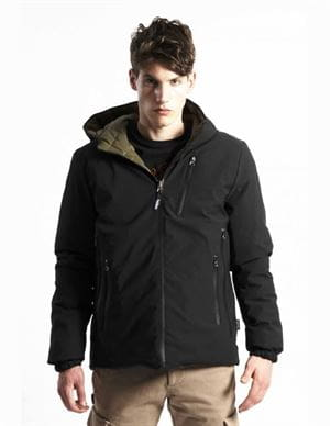 THREE STROKE PRODUCTIONS AW20 FRONTIER BLACK JACKET FRONT