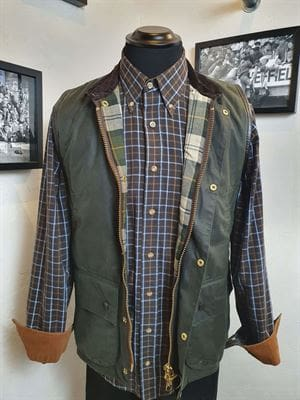 BARBOUR SMANICATO 100-8 GIACCA UOMO VINTAGE FRONTALE