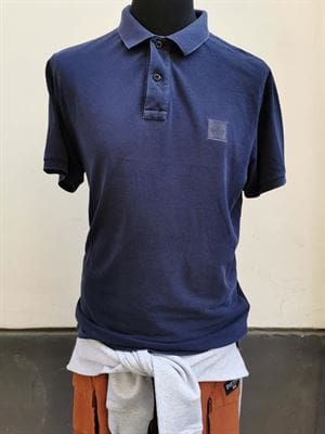 STONE ISLAND POLO SLIM FIT BLU XXL