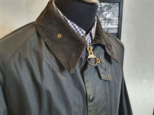 BARBOUR CLASSIC BEAUFORT 100-4 GIACCA UOMO VINTAGE COLLO APERTO