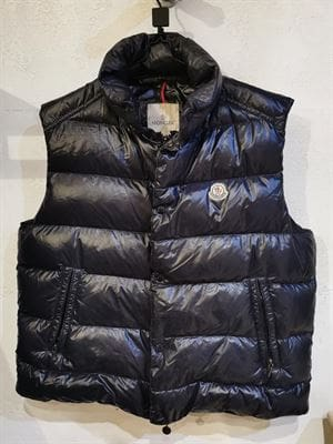 MONCLER VINTAGE SLEEVELESS DOWN JACKET BLUE FRONT