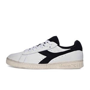 DIADORA GAME L LOW USED SCARPA UOMO BIANCO NERO LATERALE SINISTRO