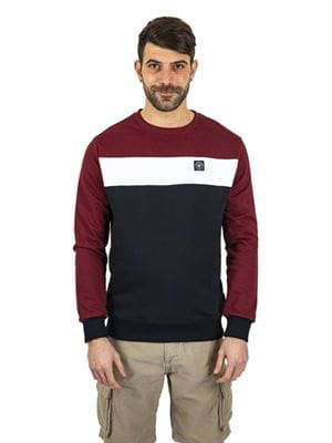 THREE STROKE PRODUCTIONS SS21 OSWALD SWEATSHIRT BURGUNDY FRONT