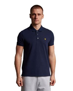 LYLE & SCOTT PLAIN POLO NAVY FRONTALE