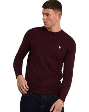 LYLE AND SCOTT COTTON MERINO CREW NECK FRONTALE