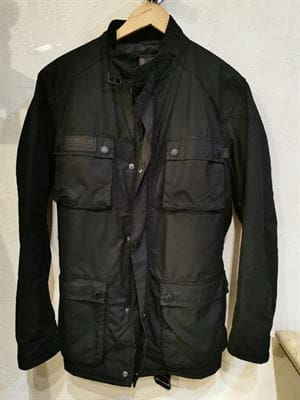 BARBOUR INTERNATIONAL GIACCA VINTAGE NERO FRONTALE