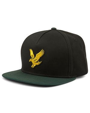 LYLE AND SCOTT COLOUR LOCK EAGLE CAP NERO VERDE GIADA FRONTALE