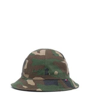 HERSCHEL COOPERMAN BUCKET HAT  WOODLAND CAMO
