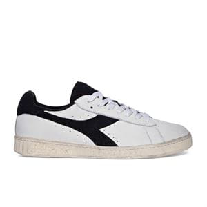 DIADORA GAME L LOW USED SCARPA BIANCO NERO LATERALE DESTRO