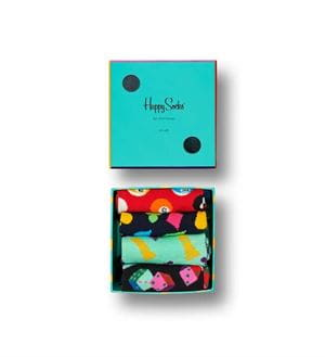 HAPPY SOCKS GAME NIGHT GIFT BOX CALZE SCATOLA APERTA